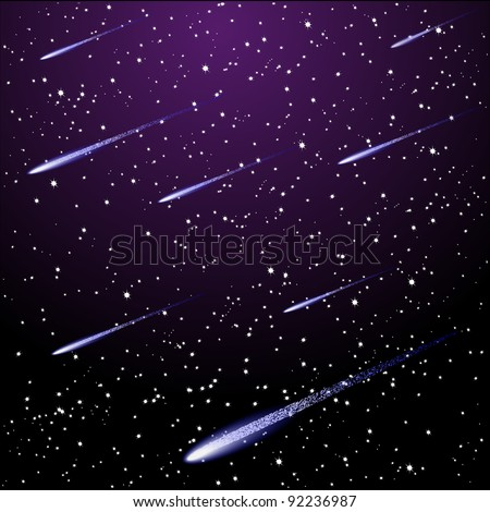 vector starry night sky with
