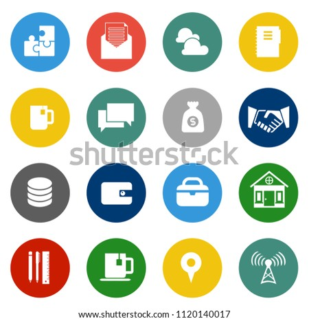 vector startup new business icons set. marketing, network, finance and office icons