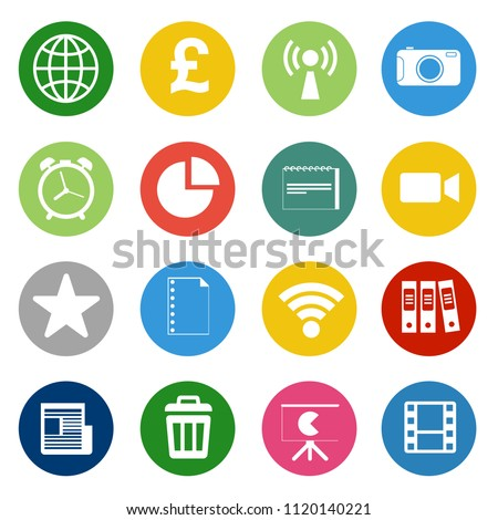 vector startup new business icons set. marketing, web computer app and office icons