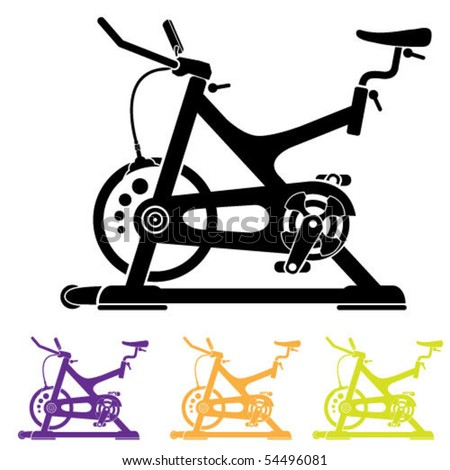 Vector Stationary Bicycle - 54496081 : Shutterstock
