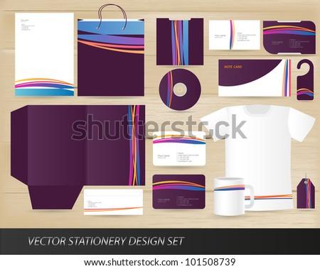 Vector stationery design set
