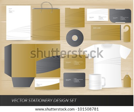 Vector stationery design set