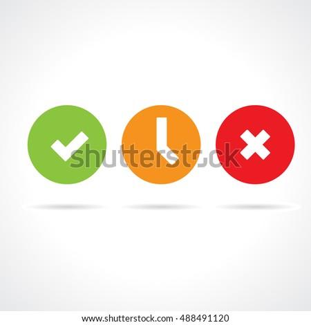 Vector Status Icon Set Stock photo ©