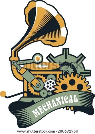 vector steam punk mechanical