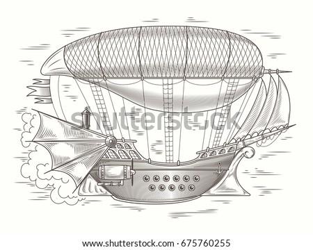 vector steampunk illustration