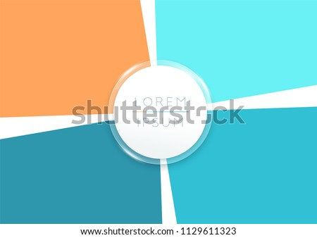 Vector 4 Step 3d Infographic Page Segments Template Stock foto ©
