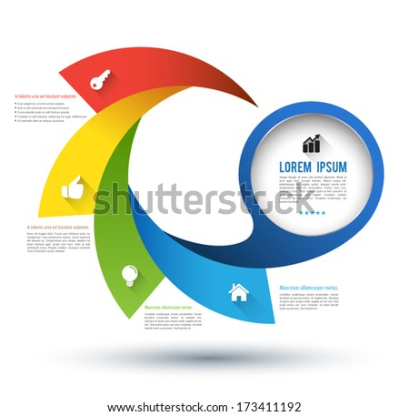 Vector step with icons / can use for infographic / loop business report or plan / modern template / education template / business brochure / business concept.