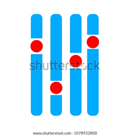 vector stereo equalizer symbol - stereo audio slider illustration - voice icon
