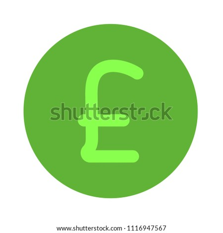 vector sterling money illustration isolated, investment business finance icon