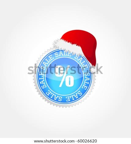 vector sticker- christmas sale