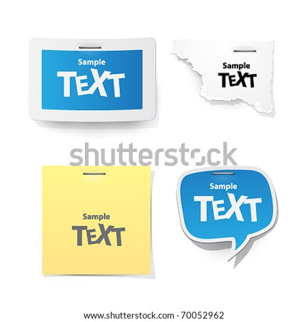 vector sticker for text