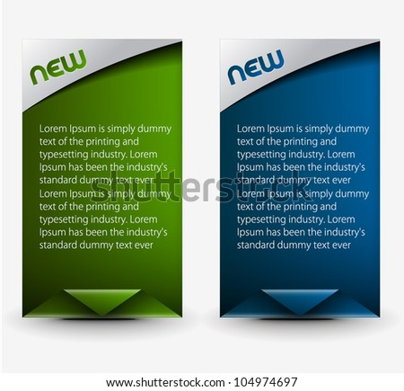 vector sticker & label for text design.