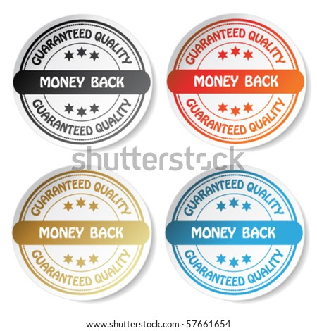 Vector sticker - money back