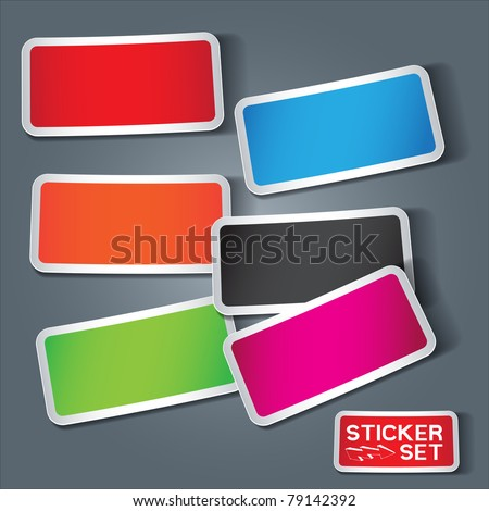 Vector Sticker Set