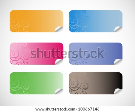 Vector Sticker Set isolated on a white background