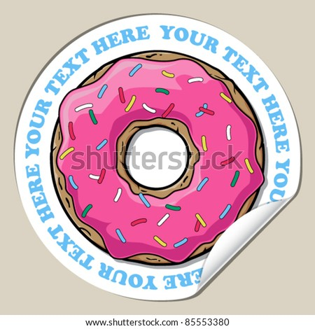 vector sticker with donut
