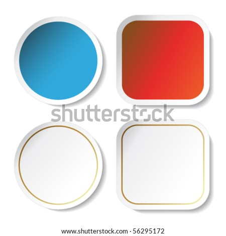Vector stickers - stock vector