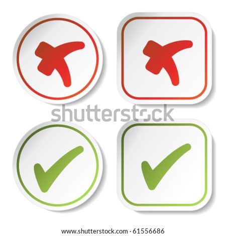 Vector stickers - check marks