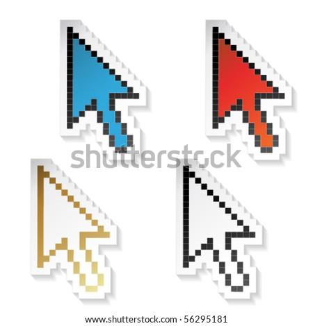 Vector stickers cursors of arrow