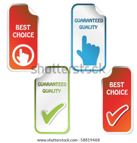 Vector stickers - guaranteed quality, best choice
