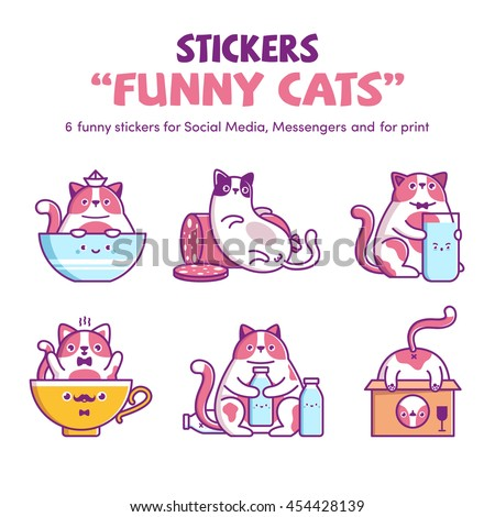 vector stickers stickers funny