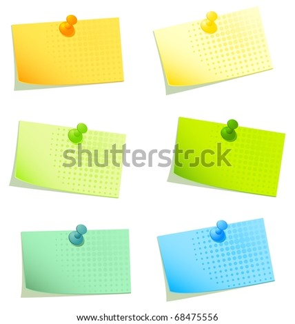 Vector sticky papers set 2