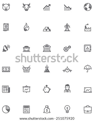 Vector stock market icon set