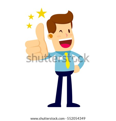 Vector stock of a happy businessman making thumbs up sign