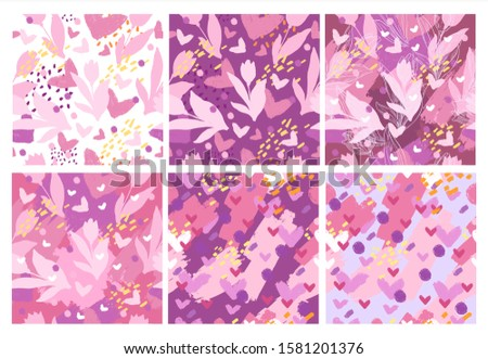 vector stock set of six simple