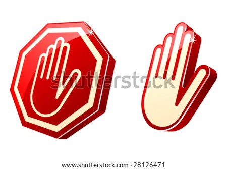 vector stop-hand sign.