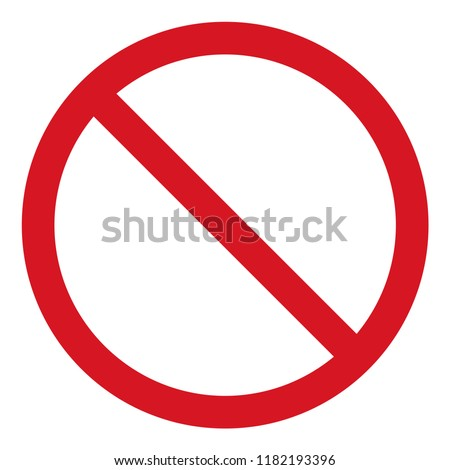 vector stop icon, prohibited passage, stop sign icon, no entry sign on white background, red stop logo, prohibition sign, vector artwork