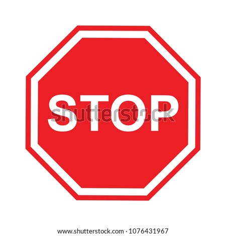Vector Stop Sign Icon #1076431967
