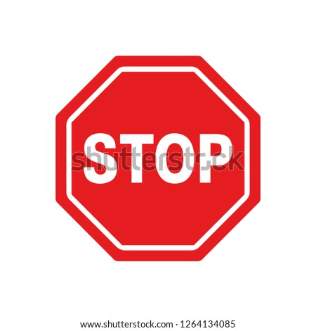 Vector Stop Sign Icon #1264134085