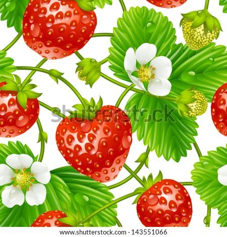 vector strawberry seamless
