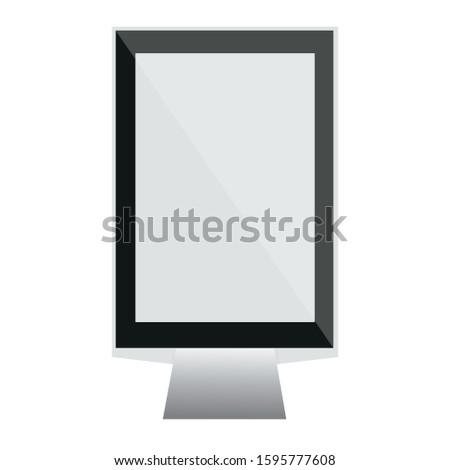 Vector street citylight blank lightbox or Blank outdoor lightbox