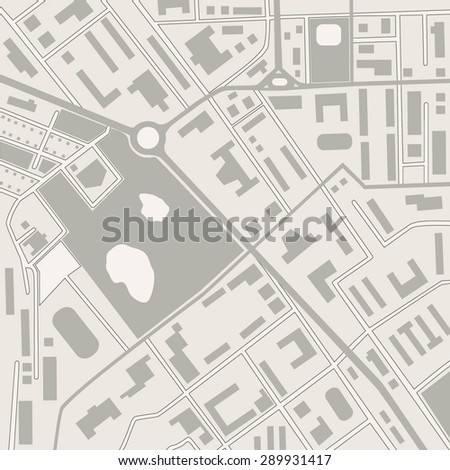 vector street map of a