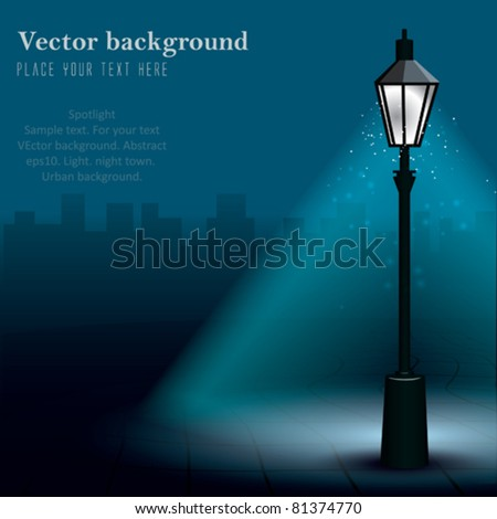 vector streetlight at night