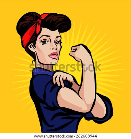 vector strong pin up girl