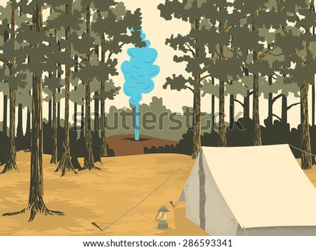 vector style illustration of a...