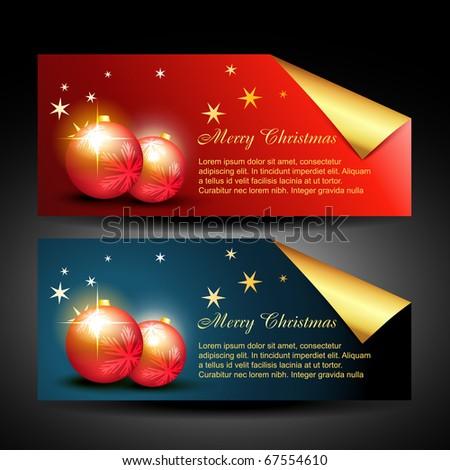 vector stylish christmas balls design