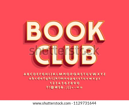 vector stylish emblem book club