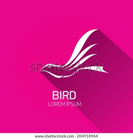 vector stylish flat design bird