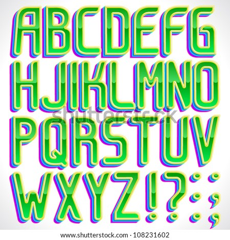 Worksheets A To Z Stylish Font Style vector stylish green 3d font part 1 full abc a z 108231602 z