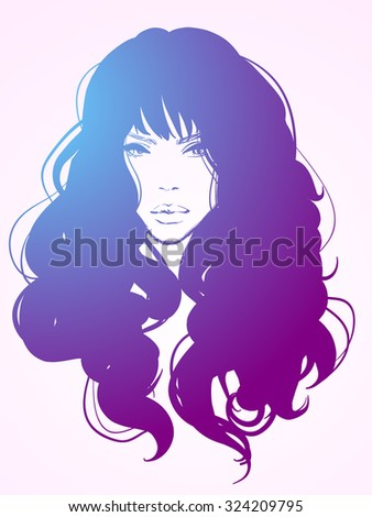 vector stylish   portrait with