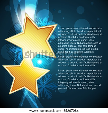 vector stylish star design illustration