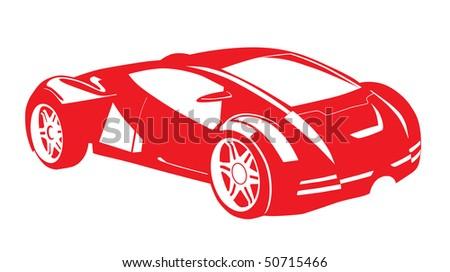 Vector stylized car