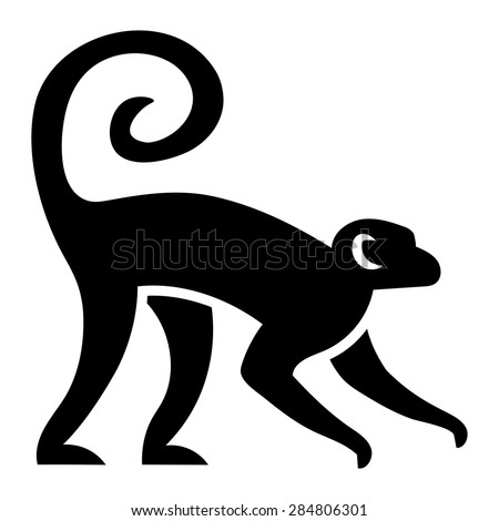 vector stylized monkey