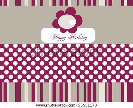 Vector Stylized retro greeting card. Editable text.