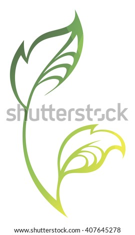 vector stylized silhouette of