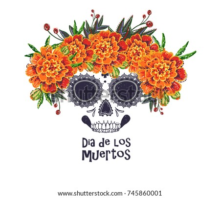 vector sugar skull with